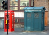 Telephone and Police Boxes, Royal Mile, Edinburgh
